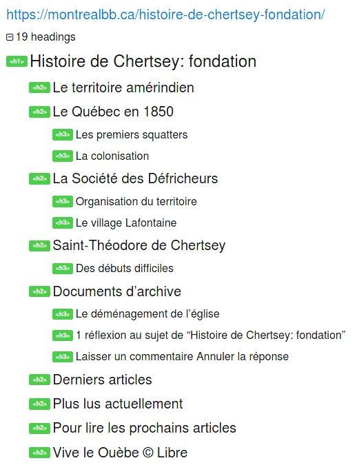 Plan de page web