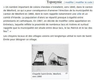 Histoire d'Entrelacs sur Wikipedia