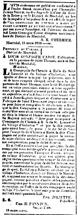 La Minerve 16 avril 1849