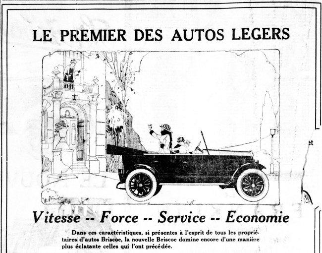 Le premier des autos légers