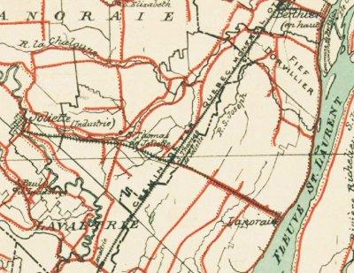 Train Lanoraie - Joliette 1884
