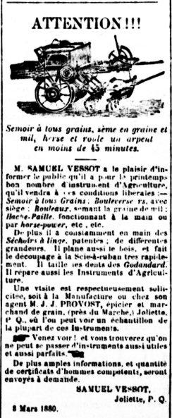 Gazette de Joliette 30 mars 1880