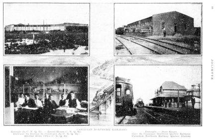 Les trains et la gare Joliette 1913