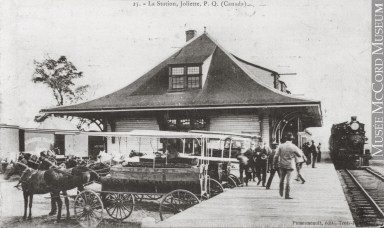 Gare ferroviaire, Joliette, QC, vers 1910