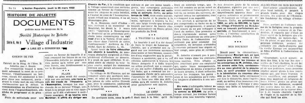 L'Action Populaire 25 février 1932