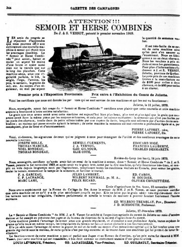 Gazette des Campagnes 26 janvier 1871