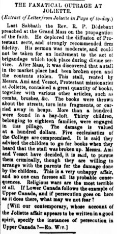 The Montreal Witness 30 octobre 1867