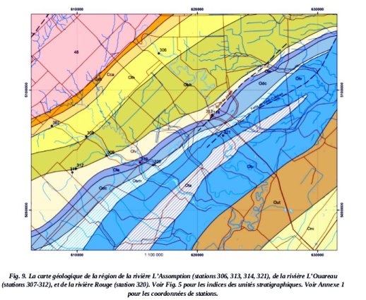Lithostratigraphie des Basses Terres du Saint-Laurent