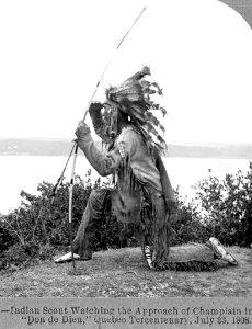 Indien guétant Champlain