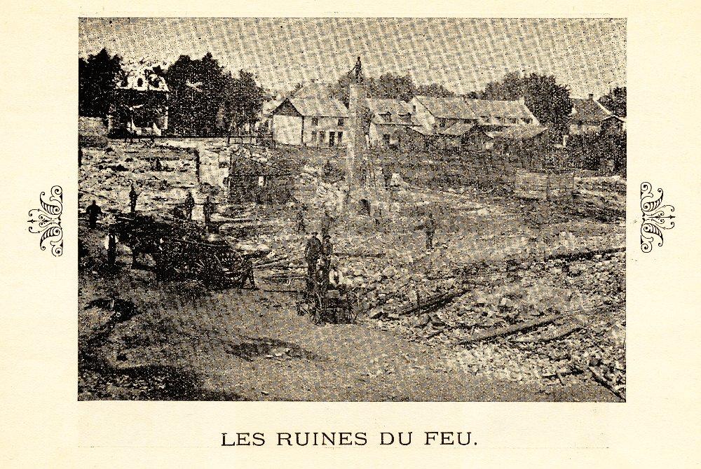 Les ruines du feu de 1881