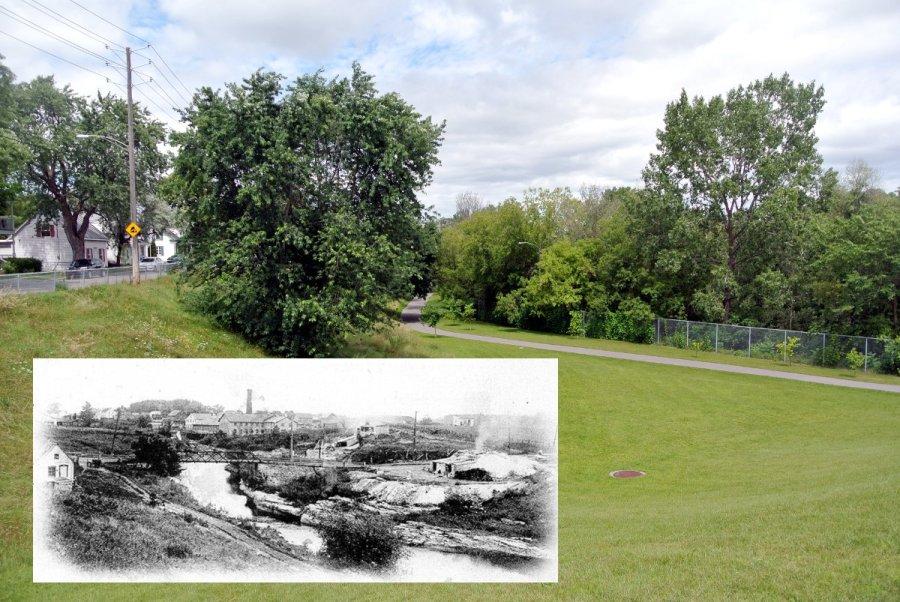 Le pont des Dalles hier et aujourd'hui