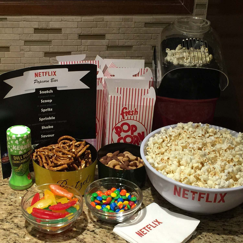 Popcorn Bar Netflix = Perfect Family Movie Night