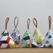 Lavender triangle sachets