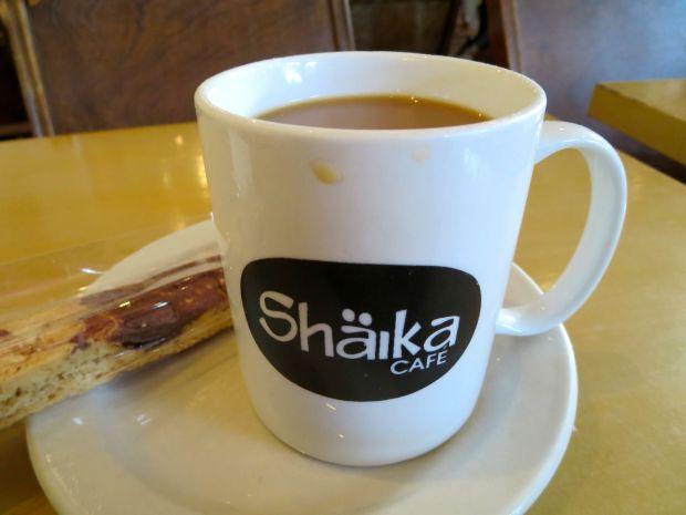 Shaika Cafe coffee. Photo Rachel Levine