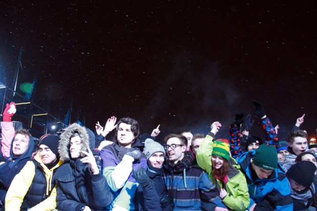 Igloofest. Feb 6 2014. Crowd. Photo Liliane Hudecova.