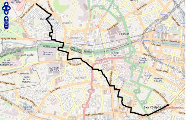 The James Joyce Challenge. Can you walk through Dublin without passing a pub? yes.