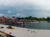 Dragon Boat Races at Jean Drapeau July 2014. Photo by Annie Shreeve