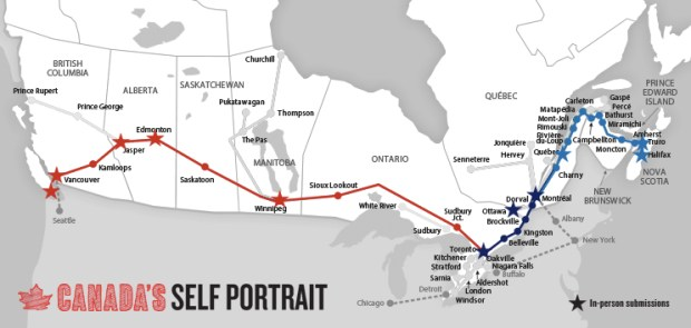 Trains across Canada for Canada's Self Portrait