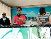 DJ Begun (right) joins DJ Pfreud (middle and DJ GD (left). Photo Mert Kimyaci.