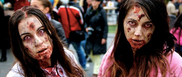 Patients Zero. Zombie Walk. Montreal. Photo Michael Bakouch.