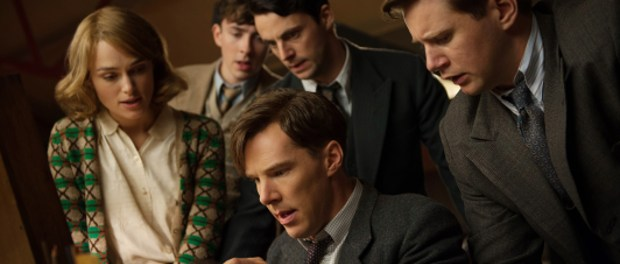 (L-R) Keira Knightley, Matthew Beard, Matthew Goode, Benedict Cumberbatch, and Allen Leech star in THE IMMITATION GAME. Photo courtesy Remstar medias.