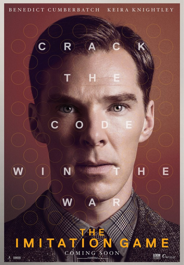 Move poster for THE IMITATION GAME starring Benedict Cumberbatch and Keira Knightley. Courtesy Remstar media.