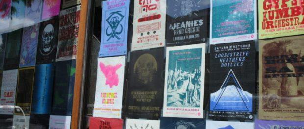 Casa del Popolo. Suoni il Popolo posters. Photo Rachel Levine