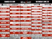 Day 2 Rockfest Schedule