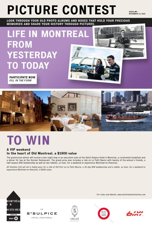 Montreal en Histoires picture contest