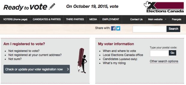 Elections Canada Screenshot.