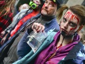Zombie Walk. Place des Arts. Halloween 2015. Photo Marlene Wilson