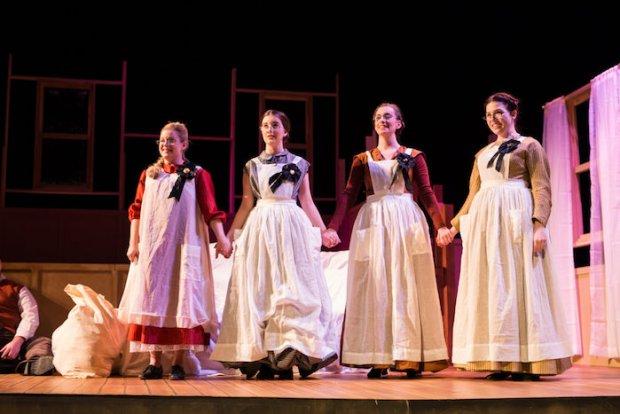 Little Women Rehearsal. McGill. Photo Brent Calis Photography.