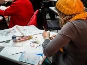 Amnesty International annual write a thon/Marathon d'Écriture. Photo Laura Dumitriu