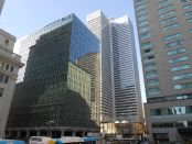 1 Place-Ville Marie, with 5 Place-Ville Marie in the foreground. Photo credit: Jean Gagnon/Wikimedia Commons.