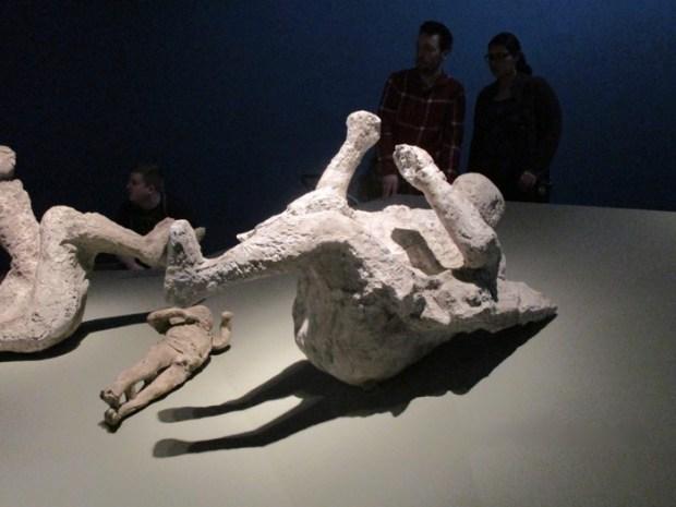 Pompeii. Plaster casts of Vesuivus victims. Museum of Fine Arts. Photo Rachel Levine
