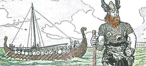 Illustration de l'exploration viking © The Picture Gallery of Canadian History, Volume 1, C.W. Jefferys