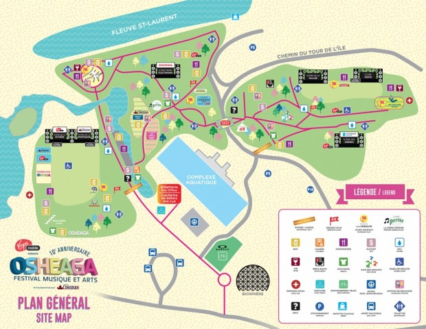 Osheaga Site 2015 Map