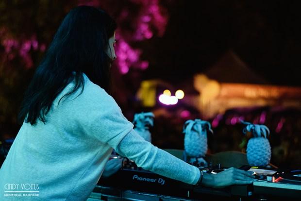 Misstress Barbara – Piknic Électronik – Samedi 1 octobre. Photo : Peter Ryaux-Larsen