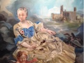 "Allegory of Graffiti Two Miss Teri Oil on canvas 60"" x 72"""