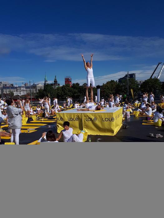 Lole White Yoga event 2017. Montreal Old Port. Photo Erika Kindsfather.