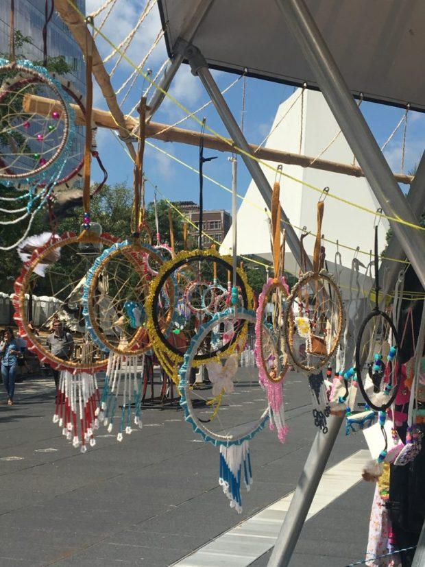 Dream Catchers . Festival Presence Autochtone. First Peoples Festival. Photo Rachel Levine