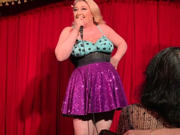 Frenchy Jones. Tainted Cabaret. Wiggle Room. Photo Rachel Levine