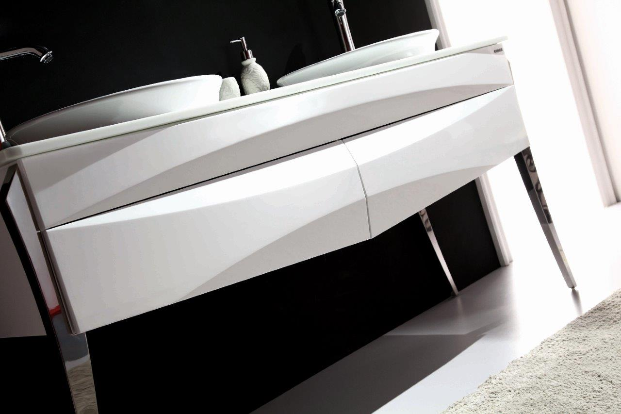 KUBE RISO 64 DOUBLE SINK BATHROOM VANITY