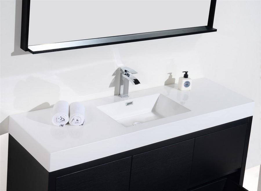BLiss 60 Single Sink Black Free Standing Vanity