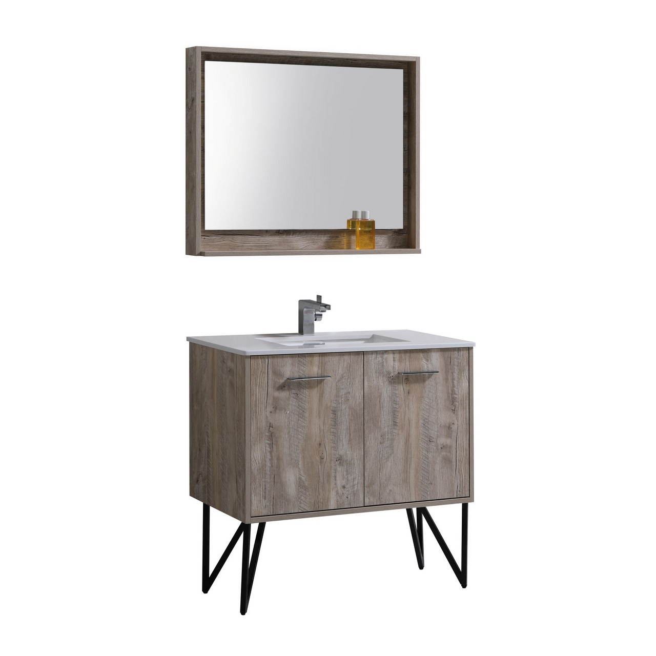 Forest 36 Modern Bathroom Vanity and Matching Mirror