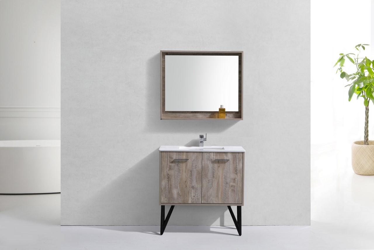 Bosco 36 Modern Bathroom Vanity and Matching Mirror
