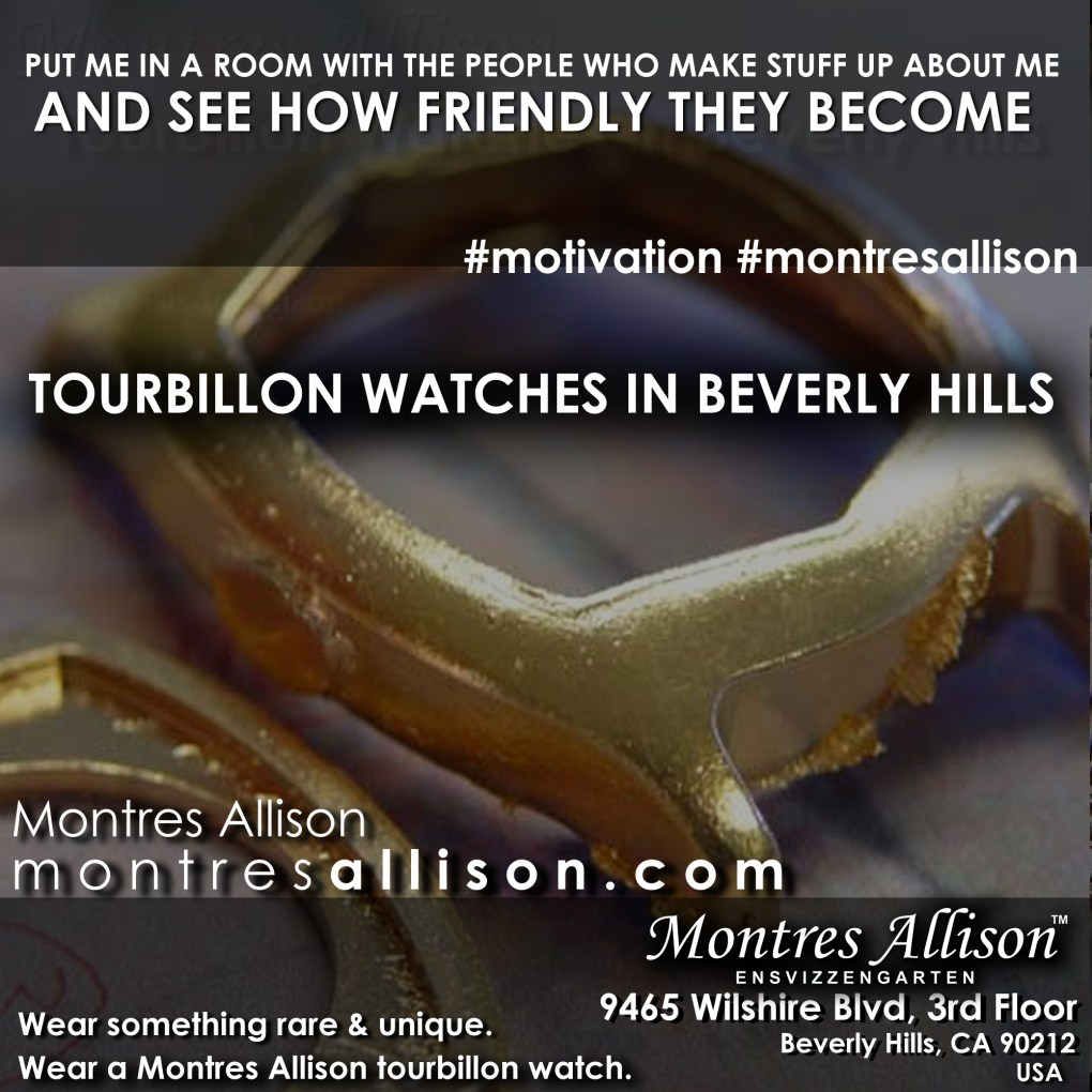 Montres Allison tourbillon gold case