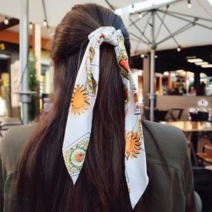 Coletero lazada pañuelo blanco