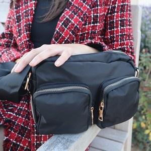 bolso de nylon negro