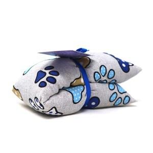 Saco térmico de semillas hueso azul